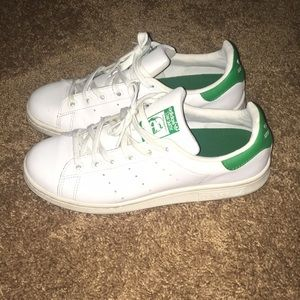 Green Stan Smith adidas shoes
